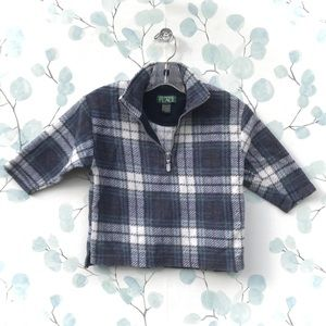 TCP Plaid Flannel Long Sleeve Zippered Sweatshirt